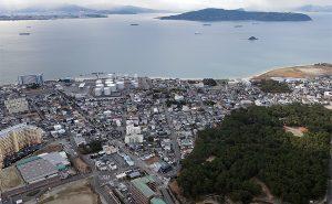 能古島 on the 博多湾
